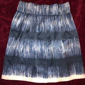 Banana republic blue and white white blended skirt
